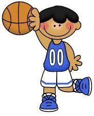 imagen de niño haciendo deporte para imprimir; Imagen de niño con pelota de baloncesto