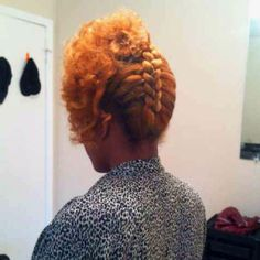 Natural updo..will do!