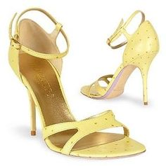 shopstyle.com: Forzieri Pale Yellow Ostrich Leather Sandal Shoes