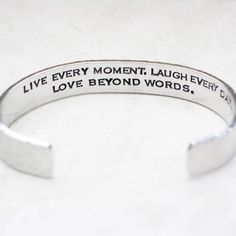 Bracelets & Bangles Stainless Steel Bangles Engraved Positive Inspirational Quote Hand Carved Letters Cuff Mantra Bracelet For Women Best Gifts Promote The Production Of Body Fluid And Saliva