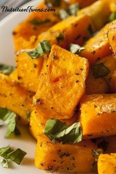 Easy, Breezy Butternut Squash | Easy to Make | 4 Simple Ingredients | Only 83 Calories | Satisfying & Delicious | For MORE RECIPES, fitness & nutrition tips please SIGN UP for our FREE NEWSLETTER www.NutritionTwins.com