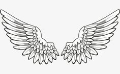 Hand-painted angel wings PNG and Clipart Tattoo Justin, Justin Bieber Tattoos, Angel Wings Clip Art, Angel Wings Drawing, Angel Wings Tattoo On Back, Angel Art, Mini Tattoos, Small Tattoos, Dove Tattoos