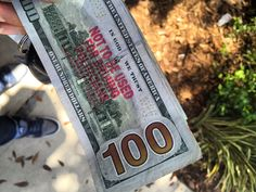 """""""Not to be used for bribing politicians hahahahaha I would get this 100 out of the bank"""" In God We Trust, West Palm Beach, Politicians, The 100, Florida, Stamp, Twitter, The Florida, Stamps"""