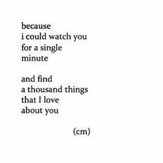 Because...