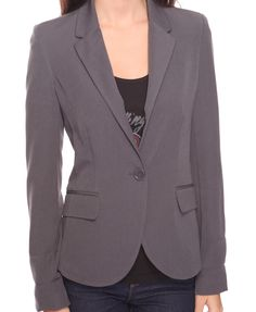 $24.80-Forever 21 Cuffed Blazer in Grey