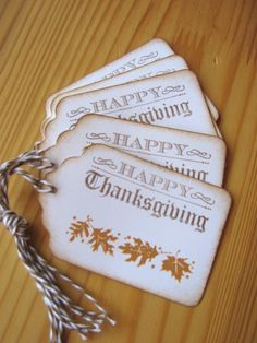 Thanksgiving Gift Tags Fall Leaves Gift Tags by CharonelDesigns, $3.95