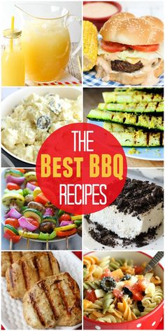 The best recipes for a BBQ! Whether it's Memorial Day, 4th of July, or just a summer BBQ, this roundup has all the meats, sides, drinks, and desserts you could possibly need!! { lilluna.com }