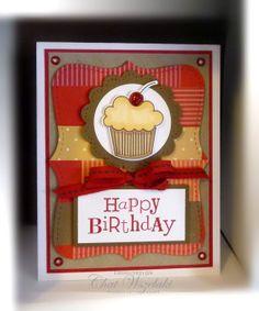 Stampin' Up Topnote Birthday Card by nitestamper on Etsy