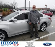 Congratulations Ruffie on your #Nissan #Altima from Scott Turner at Hixson Ford of Monroe!  https://deliverymaxx.com/DealerReviews.aspx?DealerCode=M553  #HixsonFordofMonroe