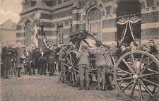 WWI, 1915, Brussels; The Removal of Edith Cavell's body from the TIR National.