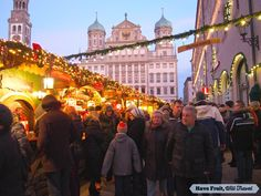 The beautiful Christmas market in Augsburg, Germany!