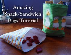 reusable snack bags- AWESOME and EASY tutorial!  I whipped up 2 in less than an hour!