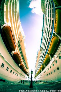 Crazy cool cruise ship line photography
