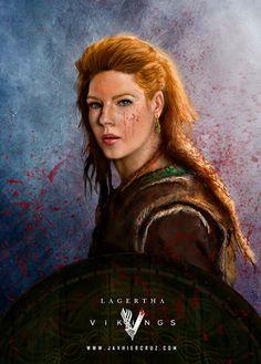 Lagertha Vikings Fanart by vavieart