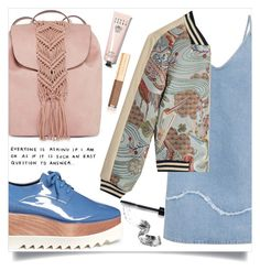 """""""Too much time"""" by inspiration-moments13 ❤ liked on Polyvore featuring M.i.h Jeans, STELLA McCARTNEY, Bobbi Brown Cosmetics, Maje, T-shirt & Jeans, F and Dolce&Gabbana"""