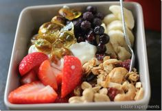 Best Ever Breakfast Bowl with Homemade Granola, Greek Yogurt, Fresh Berries, and Pistachio Brittle (Inspired by North Star Café)