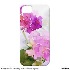 Pink Flowers Painting iPhone SE/5/5S Case