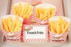 French Fry Snack Boxes - DIY Printable Fry Box (Set of 3) PDF via Piggy Bank Parties