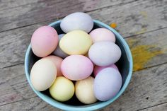 // Naturally Dyed Easter Eggs
