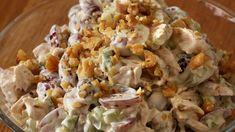 Druesalat med kalkun | Oppskrift | Godt.no Pasta Salad, Potato Salad, Food And Drink, Potatoes, Ethnic Recipes, Crab Pasta Salad, Potato