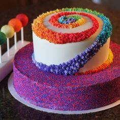 Lutscher mit verschiedenem Geschmack, 2-stöckige Torte mit vielen Farben