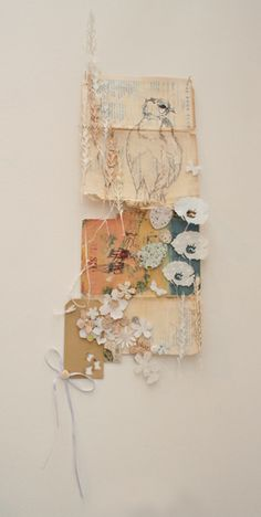 Delicate collages from Philippa Leith Perfect inspiration for scan n cut Collages, Textiles, Collage Kunst, Collage Artwork, Kunst Online, Creation Art, Assemblage Art, Mixed Media Collage, Medium Art