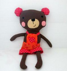 16 inch stuffed teddy bear softie von LiaAndLucy auf Etsy, $25.00