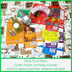Make Girl Scout Cookie Box Crowns