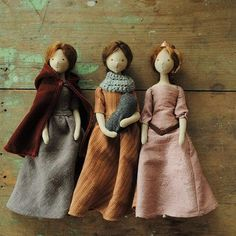 Here they are...These 3 dolls will be available today at 10am (Sydney time) in my online shop - www.willowynn.com - link in profile. Have a great day/night!