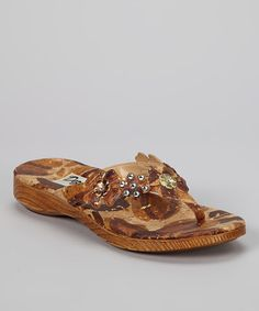 Take a look at this Bronze Dandy Sandal by Dezario on #zulily today!  $40 !!