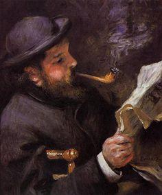 Pierre Auguste Renoir, Claude Monet Reading, 1872