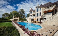 Pool with Outdoor Fireplace and Patio Plans