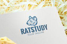Rat Animal Logo. By Steinar Logo on @creativemarket