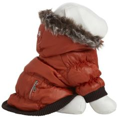 Our Pet Life Metallic Ski Parka contains Thinsulate thermal heat retention technology specially inserted between the fabric. Features include matching tone-on-tone inner fleece fabric and a faux fur removable zippered hood and #Pet #Pets #Accessories #Apparel #Clothes #Clothing #Christmas #Holiday #Holidays #Wish #List #Idea #Ideas #Dog #Dogs #PetAccessoryStore $21.19