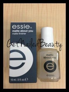 Essie Matte Top Coat. Love this stuff. by lowercase rach