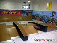 indoor skate park…a definite NEED in my house, no doubt. - All For Garden Halle, Backyard Skatepark, Skateboard Ramps, Skate Ramp, Fancy Houses, Theatre Design, Luxury Homes, My House, Indoor