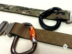 "Cobra Riggers Belt by Snake Eater Tactical.  We leave a 2"" opening behind the buckle to use as an emergency anchor point.  http://www.snakeeatertactical.com/product/cobra-riggers-belt-2/#"