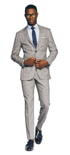 Essential Gray Prince of Wales Suit.....Get $50 off your first purchase of $300 on regular priced suits at Indochino.