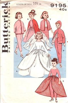 Free Printable Doll Clothes Patterns | Vintage sewing pattern envelopes: doll clothes - Found in Moms ...