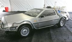 "The DeLorean used in the 1985 movie ""Back to the Future"" is displayed in 2005 at the Barris Star Car Collection Auction at the Petersen Automotive Museum in Los Angeles."