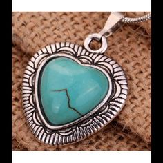 $15 Or 2/$25 Tibetan Turquoise Heart Necklace