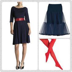Friday favourites! Hold nu op hvor var det svært at vælge denne fredags favorit, for der er kommet nye fine kjoler hjem. Men altså, den første kjole jeg selv hoppede i, var den altid smukke Celine kjole fra WEIZ Copehagen. Her er den i en smuk marine blå med røde prikker. Put et tyl skørt under, et rødt Waist bælte i taljen og et par lækre røde strømpebukser fra Oroblu, så kan Det kun blive en fantastisk dag ❤ ❤ ❤  Se mere på www.Weiz.dk. HUSK vi sender worldwide!