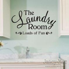Laundry room saying