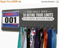READY2 SHIP Use Marathon Medal Display to display your marathon medal in style…                                                                                                                                                                                 More