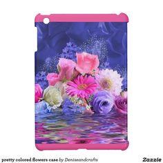 pretty colored flowers case iPad mini cases