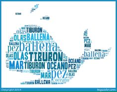 Ocean Spanish Word Cloud
