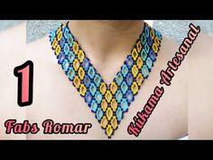 Collar en V rombo abierto - YouTube Crochet Necklace, Bracelets, Youtube, Jewelry, Chokers, Necklaces, Creativity, Patterns, Locs