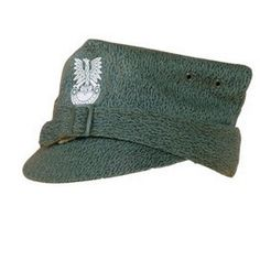 When not in combat wearing a helmet, infantry units wore this cap for sleek camouflage. These hats also kept the infantry units warm with it's double thickness layers. The front of the hat have a Polish army eagle insignia. Inner layer is equipped with a leather strap. Size 6 and 7 (55-57 European), or used are available.