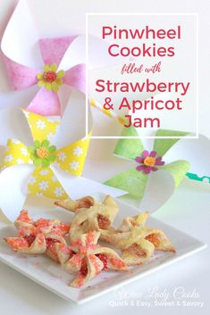 Pinwheel Cookies filled with jam are festive for any occasion. Click thru for recipe. #spring #cookies #jamfilled #dessert