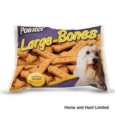 Pointer Large High Protein Bone Dog Treats 10kg Pointer Large Bone shaped biscuits are oven baked dog snacks which are high in protein and ideal for a treat.
